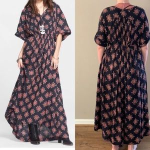 Free People Oasis Maxi Dress Navy Combo NWT